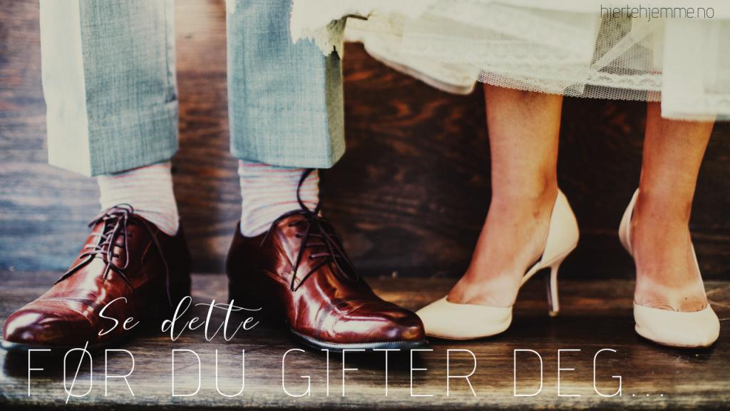Planlegg ekteskap fremfor bryllup